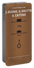No042 My Il Buono Il Brutto Il Cattivo Minimal Movie Poster Portable Battery Charger