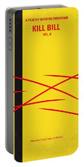 No049 My Kill Bill-part2 Minimal Movie Poster Portable Battery Charger by Chungkong Art