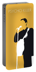 No064 My Talking Heads Minimal Music Poster Portable Battery Charger