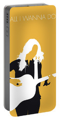 No074 My Sheryl Crow Minimal Music Poster Portable Battery Charger