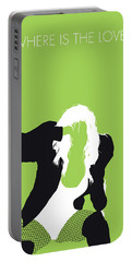 No086 My The Black Eyed Peas Minimal Music Poster Portable Battery Charger