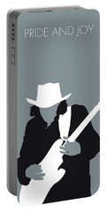No087 My Stevie Ray Vaughan Minimal Music Poster Portable Battery Charger