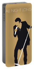No130 My Lionel Richie Minimal Music Poster Portable Battery Charger