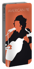 No143 My Don Mclean Minimal Music Poster Portable Battery Charger