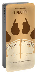 No173 My Life Of Pi Minimal Movie Poster Portable Battery Charger