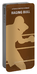No174 My Raging Bull Minimal Movie Poster Portable Battery Charger