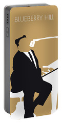 No190 My Fats Domino Minimal Music Poster Portable Battery Charger