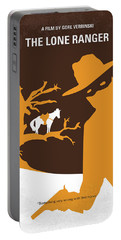 No202 My The Lone Ranger Minimal Movie Poster Portable Battery Charger by Chungkong Art
