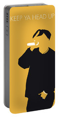No204 My 2pac Minimal Music Poster Portable Battery Charger