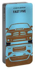 No207-5 My Fast Five Minimal Movie Poster Portable Battery Charger