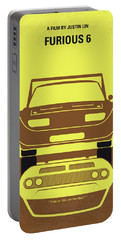 No207-6 My Furious 6 Minimal Movie Poster Portable Battery Charger
