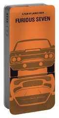 No207-7 My Furious 7 Minimal Movie Poster Portable Battery Charger