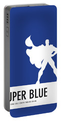 No23 My Minimal Color Code Poster Superman Portable Battery Charger