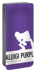 No42 My Minimal Color Code Poster Waluigi Portable Battery Charger