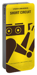 No470 My Short Circuit Minimal Movie Poster Portable Battery Charger