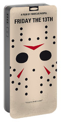 No449 My Friday The 13th Minimal Movie Poster Portable Battery Charger
