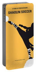 No480 My Shaolin Soccer Minimal Movie Poster Portable Battery Charger by Chungkong Art
