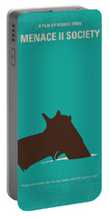 No484 My Menace II Society Minimal Movie Poster Portable Battery Charger