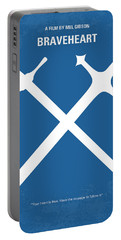 No507 My Braveheart Minimal Movie Poster Portable Battery Charger