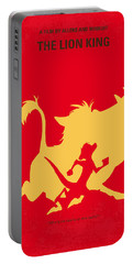 No512 My The Lion King Minimal Movie Poster Portable Battery Charger by Chungkong Art