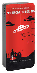 No518 My Plan 9 From Outer Space Minimal Movie Poster Portable Battery Charger by Chungkong Art