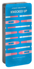 No521 My Knocked Up Minimal Movie Poster Portable Battery Charger