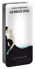 No529 My La Dolce Vita Minimal Movie Poster Portable Battery Charger