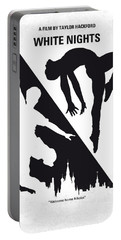 No554 My White Nights Minimal Movie Poster Portable Battery Charger