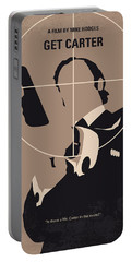 No557 My Get Carter Minimal Movie Poster Portable Battery Charger by Chungkong Art