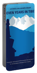 No559 My Seven Years In Tibet Minimal Movie Poster Portable Battery Charger