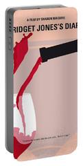 No563 My Bridget Jones Diary Minimal Movie Poster Portable Battery Charger