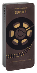 No578 My Super 8 Minimal Movie Poster Portable Battery Charger