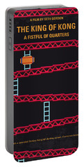 No581 My King Of Kong Minimal Movie Poster Portable Battery Charger