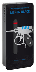 No586 My Men In Black Minimal Movie Poster Portable Battery Charger