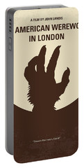 No593 My American Werewolf In London Minimal Movie Poster Portable Battery Charger