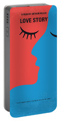 No600 My Love Story Minimal Movie Poster Portable Battery Charger by Chungkong Art