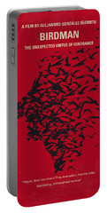 No604 My Birdman Minimal Movie Poster Portable Battery Charger by Chungkong Art