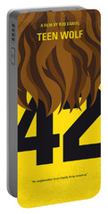 No607 My Teen Wolf Minimal Movie Poster Portable Battery Charger