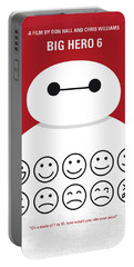 No649 My Big Hero 6 Minimal Movie Poster Portable Battery Charger