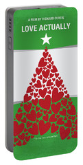 No701 My Love Actually Minimal Movie Poster Portable Battery Charger