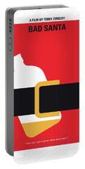 No702 My Bad Santa Minimal Movie Poster Portable Battery Charger