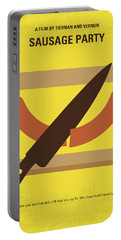 No704 My Sausage Party Minimal Movie Poster Portable Battery Charger