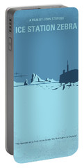 No711 My Ice Station Zebra Minimal Movie Poster Portable Battery Charger