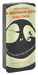 No712 My The Nightmare Before Christmas Minimal Movie Poster Portable Battery Charger
