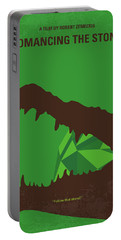 No732 My Romancing The Stone Minimal Movie Poster Portable Battery Charger