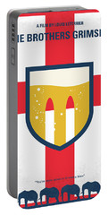 Portable Battery Charger featuring the digital art No741 My Grimsby Minimal Movie Poster by Chungkong Art