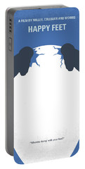 No744 My Happy Feet Minimal Movie Poster Portable Battery Charger by Chungkong Art