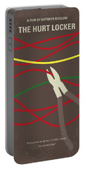 Portable Battery Charger featuring the digital art No746 My The Hurt Locker Minimal Movie Poster by Chungkong Art