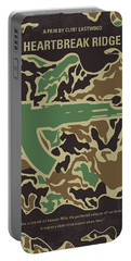 Portable Battery Charger featuring the digital art No747 My Heartbreak Ridge Minimal Movie Poster by Chungkong Art