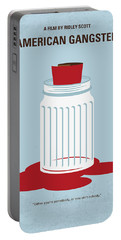 Portable Battery Charger featuring the digital art No748 My American Gangster Minimal Movie Poster by Chungkong Art